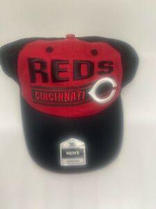 Cincinnati Reds MLB Fan Favorite Cap Hat Adjustable Mesh Snapback Black Red