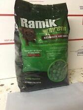 Ramik Green Rat Poison 4 Lb  Fish flavored Mouse / Mice  bait Weather resistant