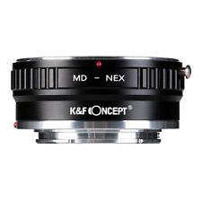 K&F Concept Adaptador Montura de Cobre para Minolta MD Lente a Sony NEX E Cámara