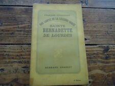 RELIGIEUX - SAINTE BERNADETTE DE LOURDES - FRANCOIS DUHOURCAU - 1933
