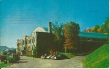 Vintage 1932 Lake Placid Olympics Hockey Arena Stadium Postcard New York Cars!