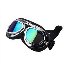Vintage Anti-UV Motorcycle Scooter Pilot Goggles Helmet glasses Motocross CA