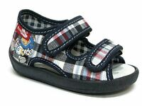 Baby Toddler Boys Canvas Shoes Kids Sandals - Blue Check (UK 4 / EU 20)