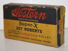 Vintage Western 00006000  Super-X 257 Roberts Ammo Box Empty