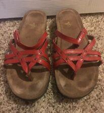 DANSKO JOVIE Red Leather Strappy Sandals Women's Size 40/US 9.5  #1502040200