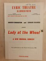 THEATRE PROGRAMME LADY AT THE WHEEL VIVIENNE BENNETT PETER GILMORE ANDY COLE