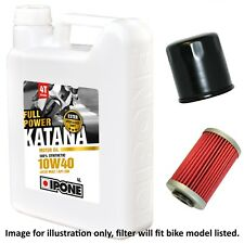 Honda VFR 400 R3K NC30 1989 Ipone Katana 10w40 Oil and Filter Kit