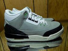 Nike Air Jordan 3 Retro (GS) Big Kids Shoes Grey/Chlorophyll 398614-006 s 7