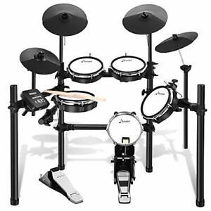 Donner E-Drum Kit elektronisches Schlagzeug Drumsticks DED-200 Drumsets schwarz