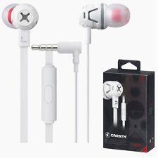 CRESYN C450S White In Ear Earset Earphones Headphones with Mic For Smartphones