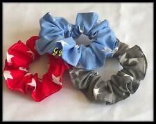 Pack 3 gomas para el pelo cola de caballo Diadema Banda Elástica Corbata de Moño Cabello estrellas de tela