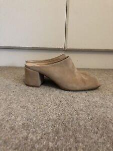 Aldo Women's Thiasa Wedge Mule Heels Sandals Cognac Brown UK Size 4 RRP £77