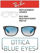 Lenti di Ricambio RAYBAN NEW WAYFARER RB2132 Replacement Lenses Ray Ban BLUE 3F
