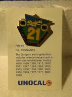 Unocal 76 LA Dodgers 21 National League Pennants Collectible Pin pin3115