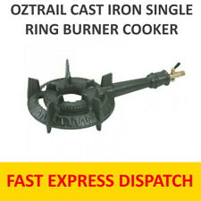 CAST IRON SINGLE RING BURNER COOKER LPG  WITH HOSE AND REG - FREE POSTAGE