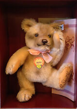 """Steiff Jackie Bear 1953 Replica 0190/25 9.84"""" Mohair Excelsior Packed NEW SIGNED"""