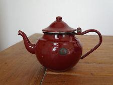 Q0900 Email Teekännchen - EMAILLE - KANNE - Kaffeekännchen - braun
