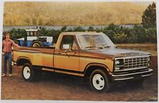 4X4 F350 DUALLY PICKUP TRUCK PROMO 1980 FORD DEALER DEALERSHIP POSTCARD