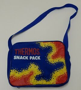 Thermos Lunch Bag Food Drink Cooler Pack Up: Snack Pack Zipped Bag Royal Blue