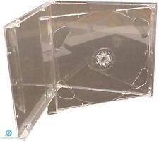 100 doble CD Jewel Case 10.4 mm estándar para 2 Cd Con Claro Bandeja HQ Plegable