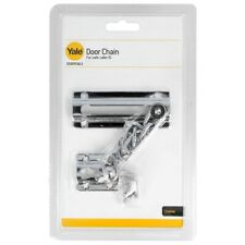 Yale Security Door Chain Slide Bolt Safety Catch Polished Chrome Silver Lock