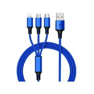 3 in 1 USB charging cable for android and iOS devices