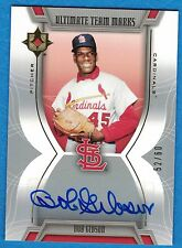 2007 Ultimate Collection Ultimate Team Marks #BG Bob Gibson #52/60 Cardinals AU