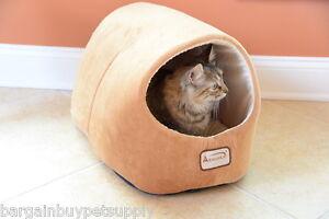 Armarkat Soft Velvet Cat Kitten Dog Pet Cave Hut Bed Machine Washable