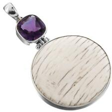 """2 1/16"""" CONE SHELL AMETHYST 925 STERLING SILVER pendant"""
