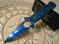Masters Collection Ballistic Assisted Blue Titanium Ninja Pocket Knife A030BL