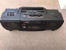 Sharp WQ-T238 (BK) Ghetto Blaster Twin Tape & FM Radio Boom Box Working