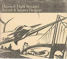 MS Flight Simulator Aircraft & Scenery Designer Game Manual ONLY, 76 pages 1990