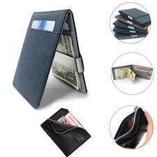 Faux Leather Men's Money Clip Slim Wallet ID Credit Card Holder Case Purse New