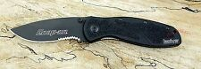 *  1670BLKST *SO* KERSHAW BLUR Snap On Pocket Knife Speedsafe USA NEW serrated