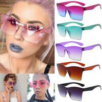 Oversized Square Frameless Sunglasses Women One Piece Large Rimless Sun Glasses