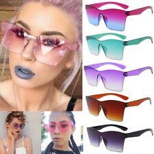 Oversized Square Frameless Sunglasses Women One Piece Big Large Rimless Glasses