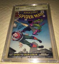Amazing Spider-Man #39 CBCS 4.0 SS 1966 Signed John Romita Sr  Green Goblin