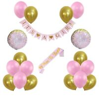 Baby Shower Decorations for Girls. It's A Girl Pink - Gold  20 Pieces