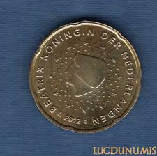 Pays Bas 2012 20 centimes d'Euro SUP SPL Pièce neuve de rouleau - Netherlands
