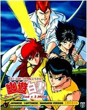 DVD YU YU HAKUSHO VOL.1-112 END + 3 Movies English Subtitle with TRACK postage