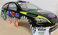 1/10 RC car 190mm on road drift rally Ford Focus Monster Energy Body Shell