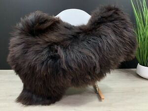 Beautiful Brown Sheepskin Rug Hide Pelt Genuine Natural Soft Seat Cover Throw