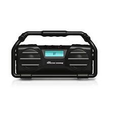 NEW Pyle PJSR350BK Wireless Heavy Duty Splash Proof Boom Box Bluetooth Speaker