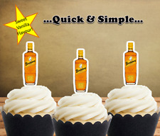 16 x Bundaberg Rum Bottle  EDIBLE wafer cupcake cake toppers STAND UP