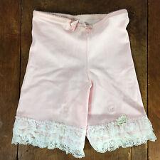 1970's Vintage Pink Lace Boy Shorts Underwear Panties Garder Belt Lingerie Sears