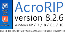 AcroRIP v 8.2.6 2016 DTG Printer Acro rip printing software Epson R3000 SC- P600