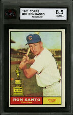 1961 TOPPS BASEBALL~#35~RON SANTO~HALL OF FAME ROOKIE~CHICAGO CUBS~KSA 8.5