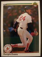 1990 Upper Deck #112 Dwight Evans RED SOX