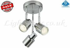 LOW ENERGY SAVING TRIPLE SPOTLIGHT STAINLESS STEEL / CHROME INC LOW ENERGY LAMPS