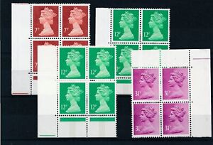 [22204] Great Britain Good lot in blocks of 4 stamps very fine MNH